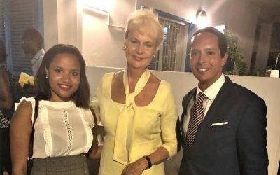 Swedish Delegation's official reception in Luanda
